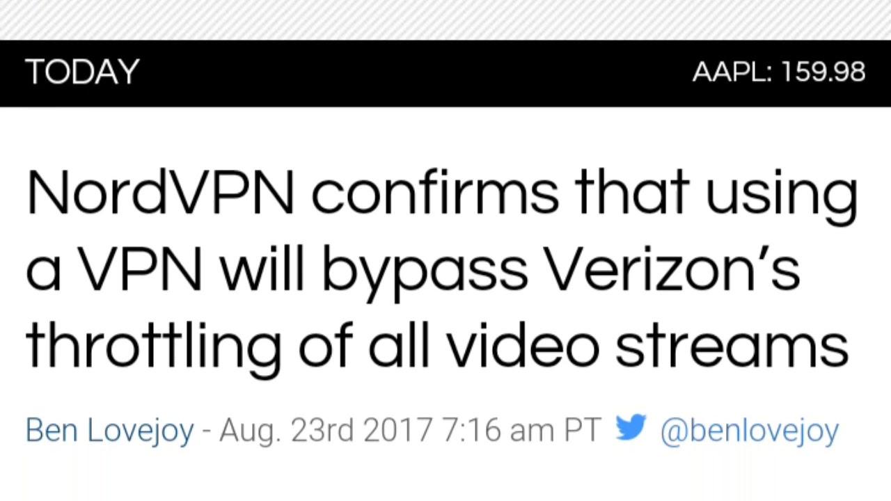 VPN to bypass Verizon throttling