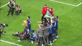 2017 UEFA Europa League Final: Manchester United players celebrate trophy with fans