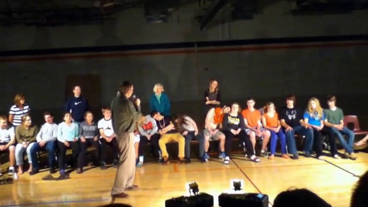 Cedarburg High School Post Prom Hypnotist 2013 - YouTube