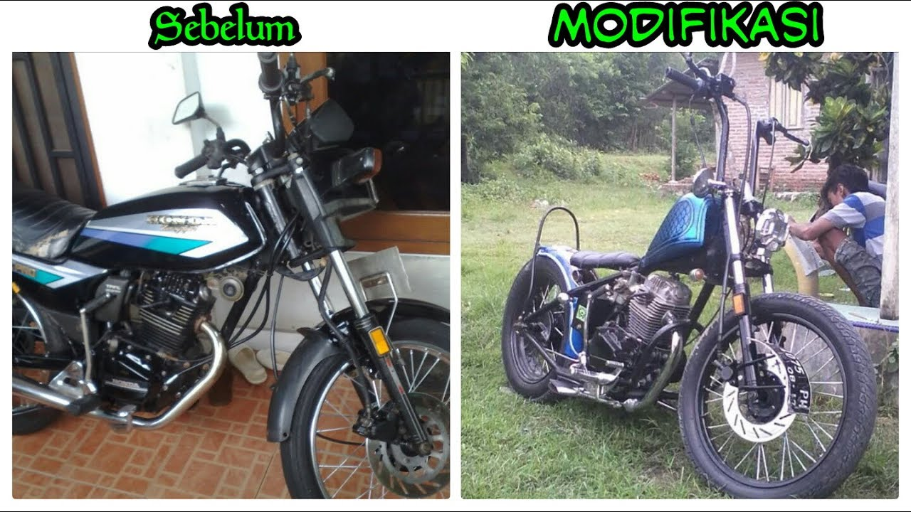 Modifikasi Motor Chooper Dari Mesin Motor Gl Pro 92 Youtube