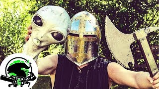 Medieval and Modern Blade Weapons Vs Medieval Aliens! AlienGoBoom