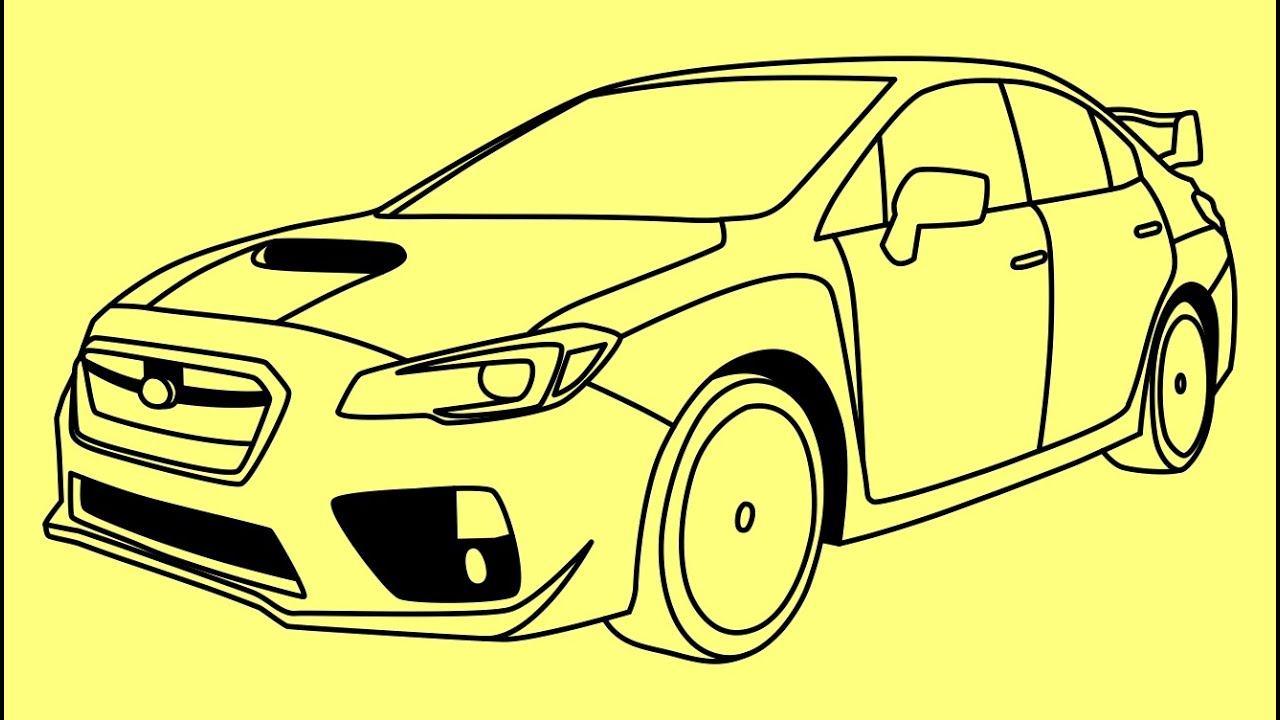 How To Draw Subaru Impreza Wrx Sti Fast And Furious 7 Cars Kak
