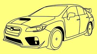 How to draw Subaru Impreza WRX STi Fast and Furious 7 cars - Как нарисовать машину Субару Импреза