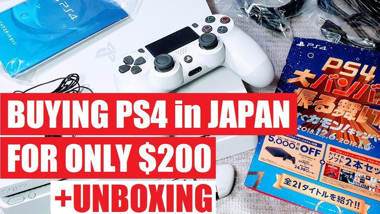 PS4 in 2019 - Worth it? For Only $200 - Unboxing Japan Tokyo Shopping  Playstation 4 or wait for PS5