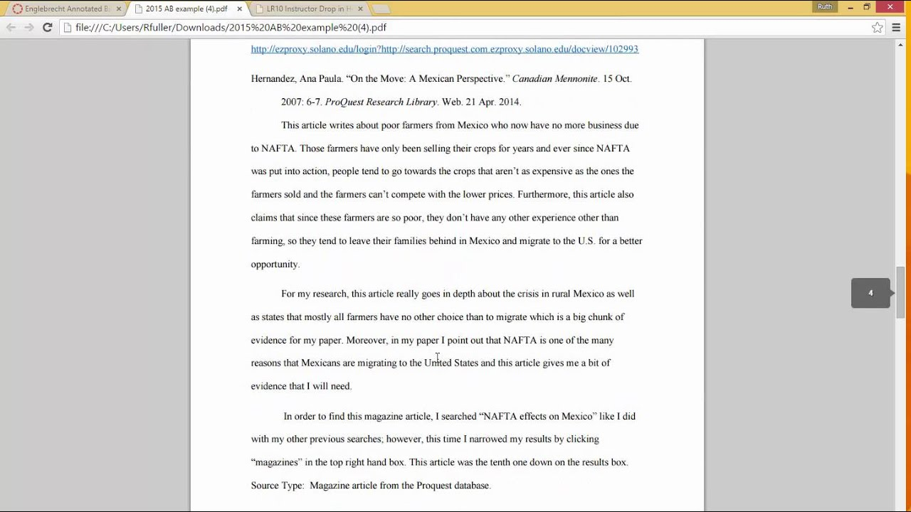Fuller Generic LR10 Annotated Bibliography Directions