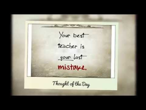 Beautiful Thought Of The Day That Make Your Day Thought Of The Month March 2015 Youtube