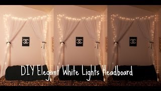 Diy Elegant White Lights Headboard ♡