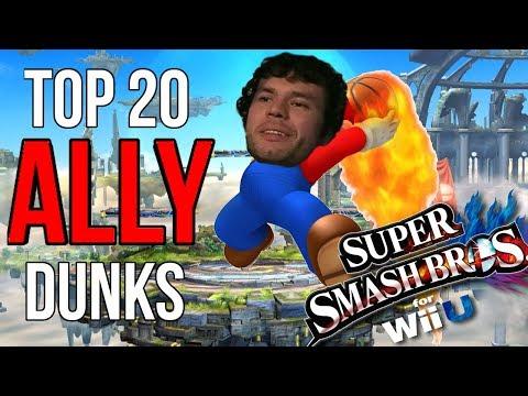 Top 20 Ally Mario Dunks - (SSB4, Super Smash Bros. Wii U)