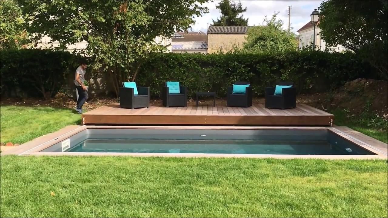 Terrasse Coulissante Sur Rail Pour Piscine Et Spa Un Grand Rolling Deck