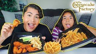 MUKBANG: ULTIMATE CHEESECAKE FACTORY (eating show) PASTA + BUFFALO WINGS + FRIES! watch me eat!
