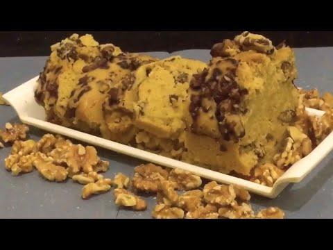 DIET WALNUT CAKE | Sugarfree | شوگر فری اخروٹ کا کیک | Without Oven