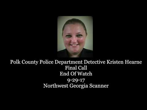Polk County Police Department Detective Kristen Hearne Emotional  Final Call