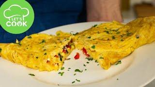 REZEPT: Omelett selber machen | Einfache Methode mit Gemüse & Käse 😋