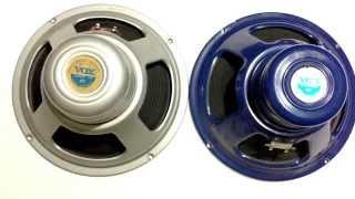 vox ac30 2000 blue speaker vs vintage 1966 alnico silver bell