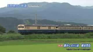 懐かしの115系 横須賀色 篠ノ井線・大糸線