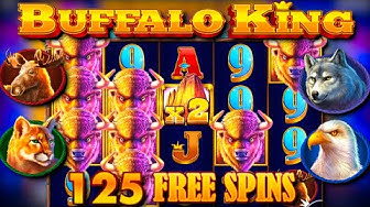x283 win / 125 free spins! / Buffalo King free spins compilation! #2