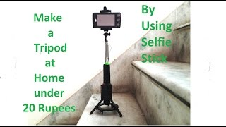 ☆ Tripod using Selfie Stick less then 20 rupees,at home with waste,fr mobile,camera,lights,universal