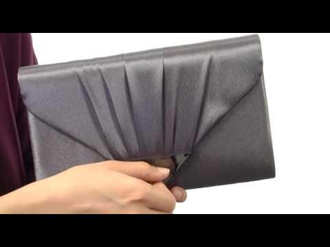 Jessica McClintock V Flap Satin Clutch  SKU#:8221350