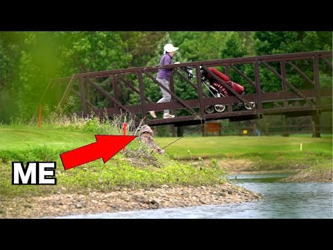 SNEAKING into Golf Course Ponds with GHILLIE SUITS!!! (Kicked Out)