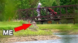 SNEAKING into Golf Course Fishing Ponds with GHILLIE SUITS!!! (Kicked Out)