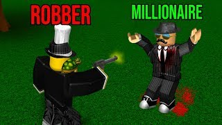 STEALING CASH FROM A MILLIONAIRE *GET RICH* (Roblox Bloxburg Roleplay)