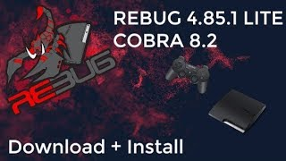 REBUG 4.85.1 LITE CFW for PS3 COBRA 8.2
