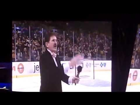 Rene Rancourt - O Canada / Star Spangled Banner - Boston - 1.3.15