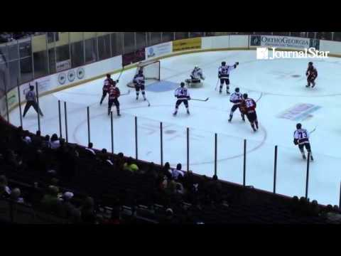 VIDEO: Highlights from Peoria Rivermen 3-2 loss to Macon Mayhem in Game 1 of SPHL Quarterfinals best