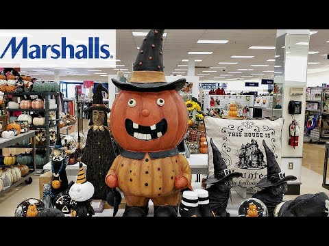 SHOP WITH ME! MARSHALLS HALLOWEEN FALL DECOR 2018