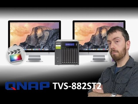"""UPDATE - The QNAP TVS-882ST2 2 5"""" SSD and HDD Thunderbolt 2 NAS with USB  3 1, TB2, 10GBe and more"""