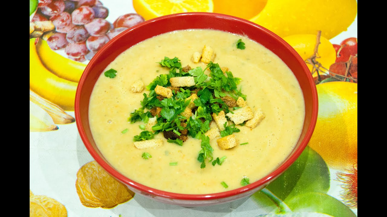 суп пюре из цветной капусты и кабачков