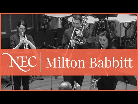 "NEC hosts the Eastern Division Conference of the College Band Directors National Association in March 2014: Milton Babbit's ""All Set"""