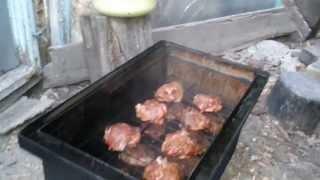 Коптильня. Как избавиться от капель конденсата с сажей на мясе.