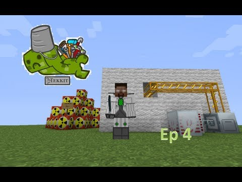 Minecraft Tekkit Ep 4 - Nether Ores and the start of Miners Inc.