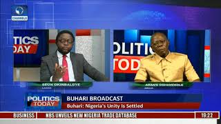 Adams Oshiomhole Speaks On Issues Thrown Up Over Buhari's Broadcast | Politics Today |