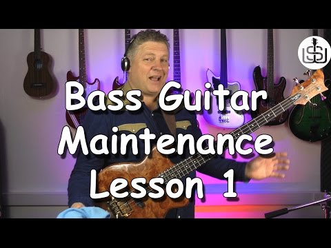 Bass Guitar Maintenance by Scott Whitley - Lesson 1 - Cleaning and protecting your bass