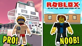 NOOB VS PRO! SHE CHALLENGED ME TO A *BUILD* BATTLE IN ROBLOX BUILDING SIMULATOR!! (It Got Crazy)