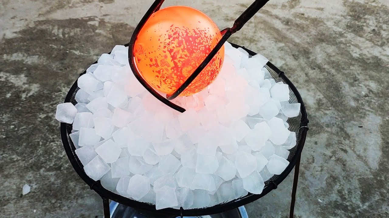 Glowing 1000 Degree METAL BALL vs ICE  EXPERIMENT