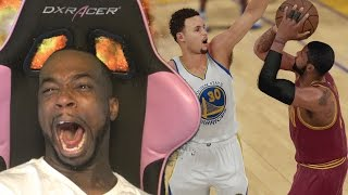 Recreated kyrie game winner game 7 on curry! trash talking in 2k teamup! hilarious