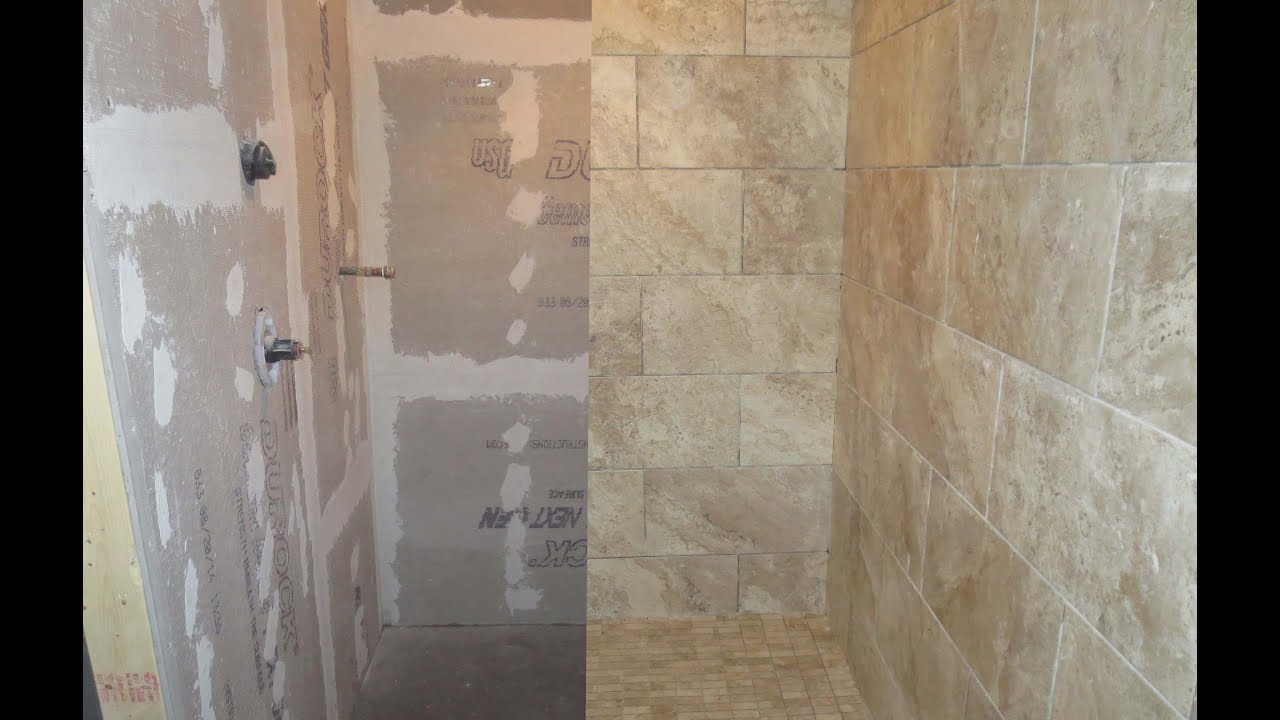 Wood Looking Tile Bathroom Time Lapse Large Format Porcelain Tile Wood Look Plank Tile Installed With T Lock Master