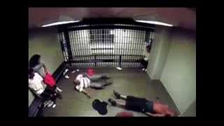prison fight bully gets beat up then tazed
