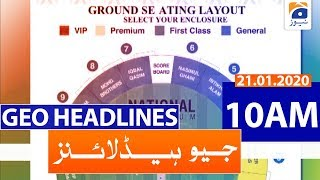 Geo Headlines 10 AM | 21st January 2020