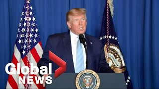 """Trump addresses targeted killing of senior Iranian general: """"His reign of terror is over"""""""