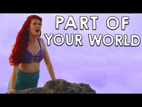 Ariel in Real Life  Part of Your World  Disneys Little Mermaid
