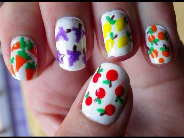 Uñas frutas/hortalizas / fruits nails