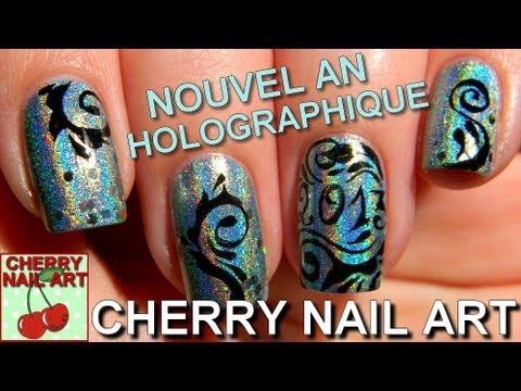 Nouvel an nail art 2013 ongles courts youtube - Nail art nouvel an ...