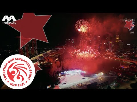 NDP Songs Medley and Fireworks display | National Day 2021