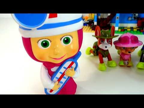 """Маша Доктор и Щенячий Патруль - мультики для малышей с игрушками """"Маша и Медведь"""" """"Щенячий Патруль"""""""