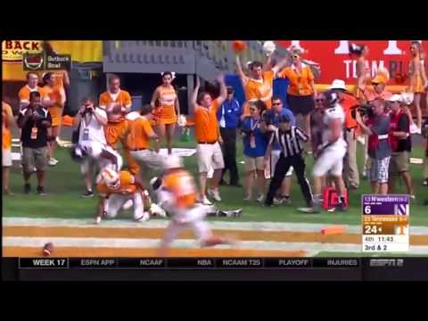 Outback Bowl Highlights: Joshua Dobbs SportsCenter #1 Play Touchdown Tightope