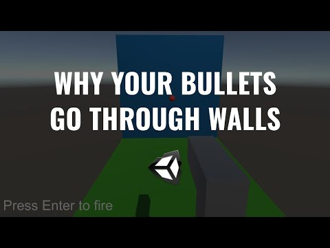 Why Your Bullets Go Through Walls - Unity Tutorial thumbnail